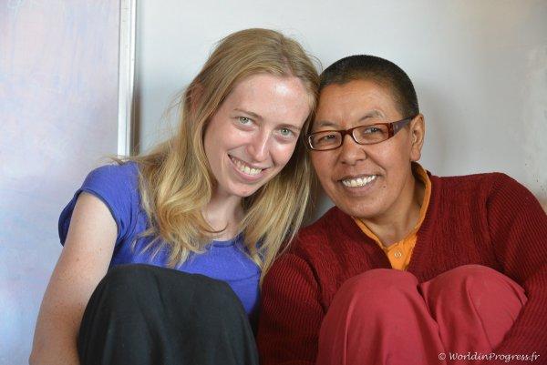 Rencontre avec un nonne professeur au Ladakh