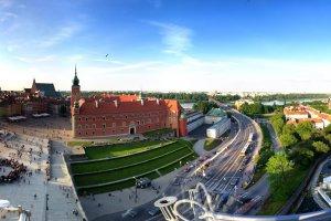 Varsovie, vue de la tour de l'église Sainte Anne