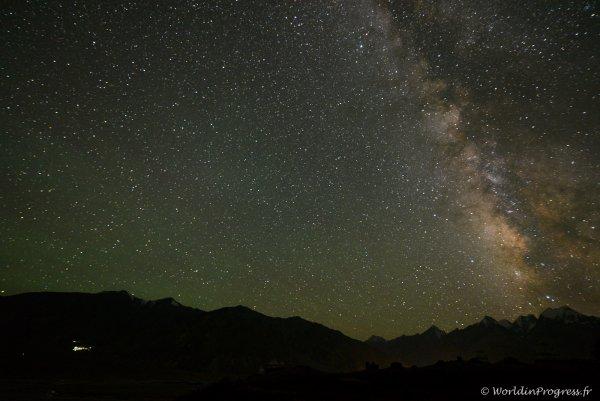 Ciel étoile au Ladakh